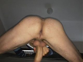 Stroking my cock doggy style wanting to be sucked good