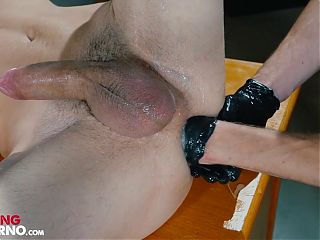 FistingInferno - Hot Cop Probes Convict Analy With His Fist