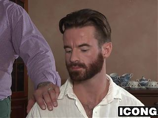 Gay daddies Brendan Patrick and Hugh Hunter fuck hard