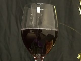Cumming in a wine glass (Loads Malone)