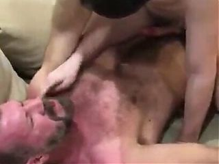 Boy riding str8 married daddy on couch