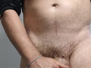 #147 Oiling my hard thick veiny cock