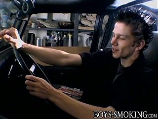 UK punker Ian Madrox smokes cigars and jerks off in his car