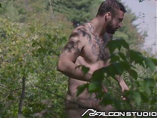 FalconStudios - Bearded Stud Gets Ass Plowed By Stranger