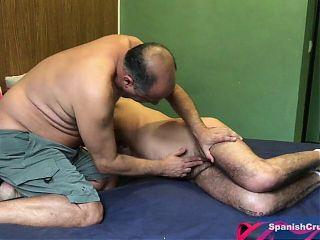 Daddy Chris Barebacking a Mature Spaniard